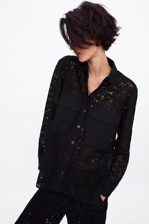 Zara Camisa combinada com bolsos