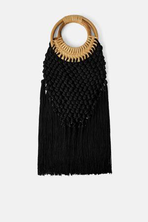 Zara Mala shopper trançada de bambu