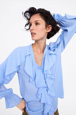 Zara Blusa com folhos
