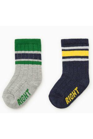 Zara Pack dois pares de meias com riscas