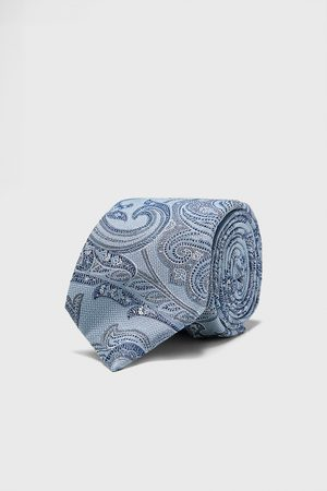 Zara Homem Gravatas - Gravata larga jacquard com paisley
