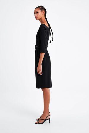 Zara Vestido tubo com cinto