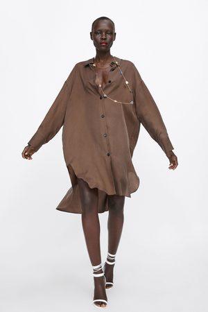 Zara Camisa comprida assimétrica