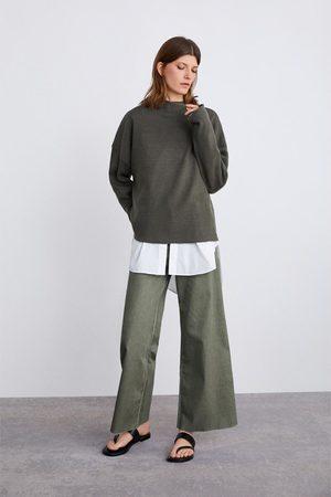 Zara Sweater oversize em malha canelada