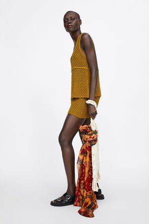 Zara Calções bermuda de malha crochet