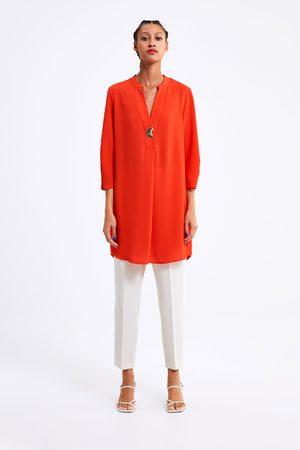 Zara Vestido curto túnica