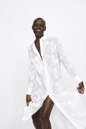 Zara Senhora Formal - Túnica bordada com bolso