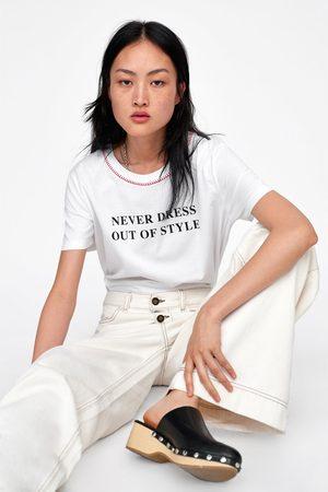 Zara T-shirt com texto