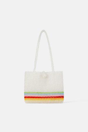 Zara Mala tote bag com missangas multicoloridas