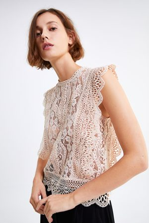 Zara Top renda combinado