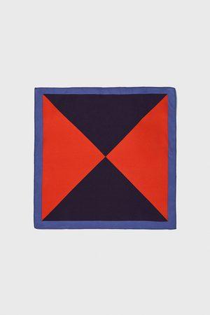 Zara Lenço de bolso com triângulos