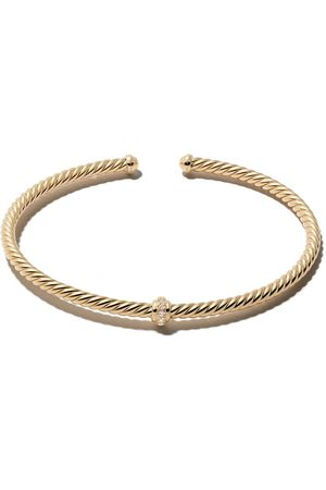 David Yurman 18kt yellow gold Renaissance Centre Station diamond cuff