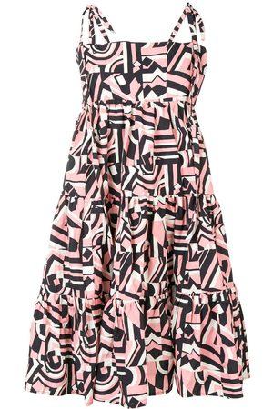La DoubleJ Geometric print flared dress