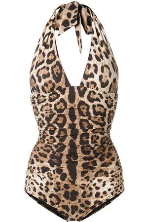 Dolce & Gabbana Senhora Fatos-de-banho - Reversible leopard print swimsuit