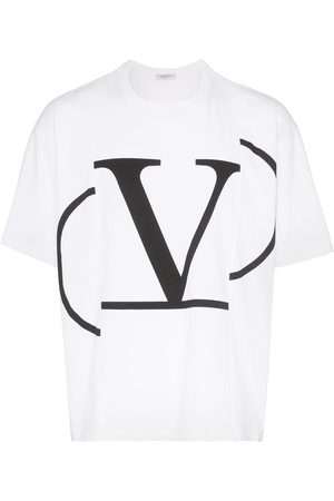 Valentino Homem T-shirts & Manga Curta - VLOGO print T-shirt