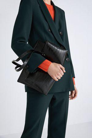 Zara Mala tote bag plana com estampado animal