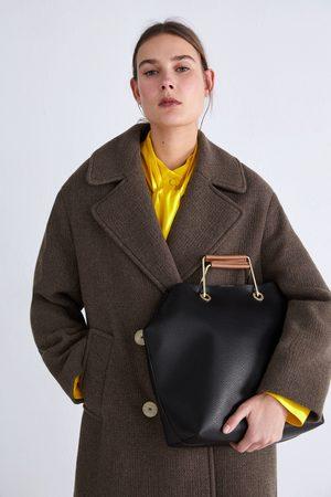 Zara Mala tote bag com alças metálicas