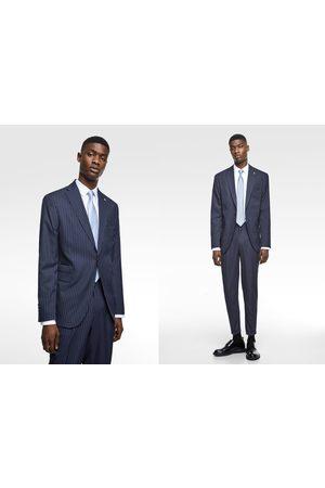 Zara Coolmax® pinstripe suit blazer
