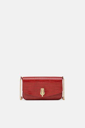 Zara Mala a tiracolo com bolsos removíveis croco
