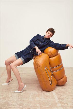 Zara Casaco denim com pespontos combinados