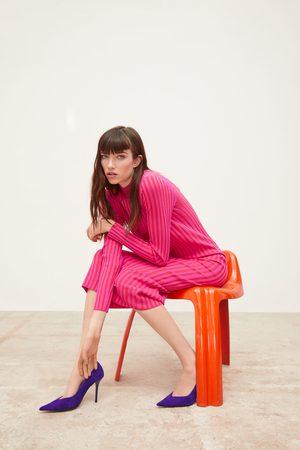 Zara Vestido malha bicolor