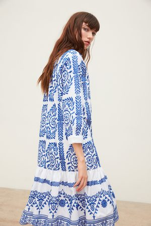 Zara Camisa vestido com bordados