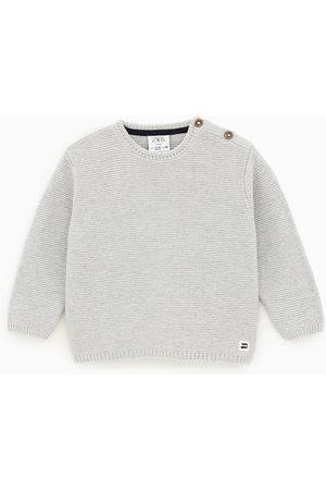 Zara Sweater com malha do cabo com botões