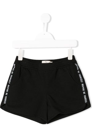 Le pandorine Menina Calções - Side stripe running shorts
