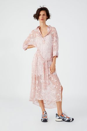 Zara Túnica com bordados e cinto