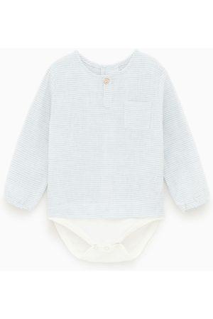 Zara Camisa body com riscas