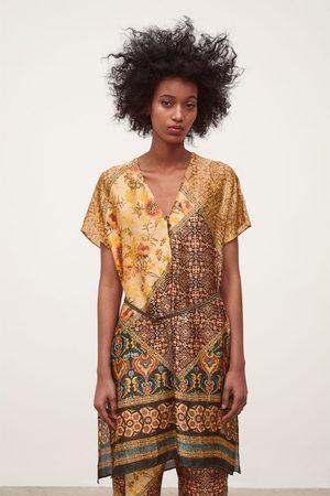 Zara Túnica estampada cinto