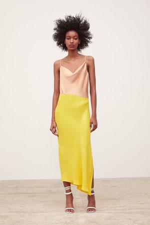 Zara Vestido com estilo de lingerie color block