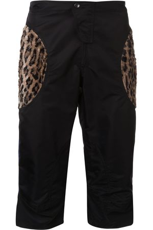 MARTINE ROSE Animal print effect cargo shorts