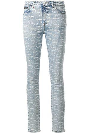 Philipp Plein Senhora Skinny - Logo print skinny jeans