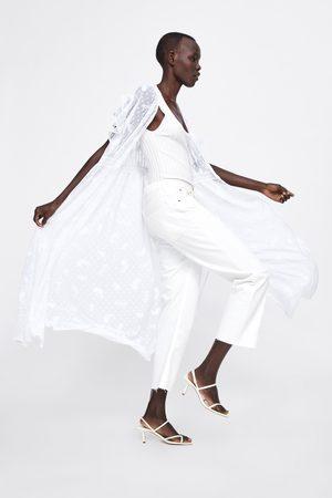 Zara Blusa comprida com bordados