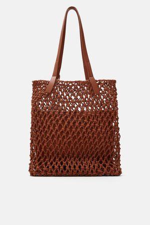 Zara Tote bag de tecido com nós