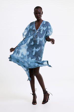 Zara Túnica semitransparente com bordados
