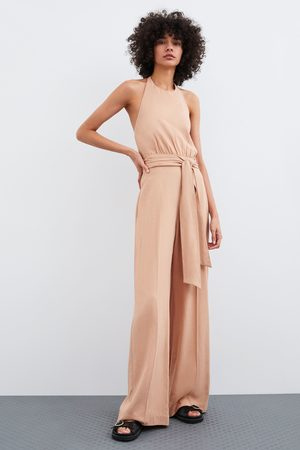 Zara Macacão comprido de estilo rústico