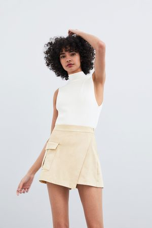 Zara Saia calções bermuda
