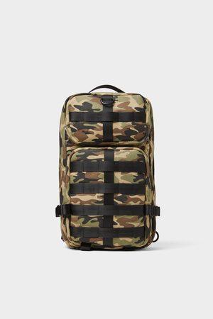 Zara Mala a tiracolo com estampado de camuflagem com vários bolsos