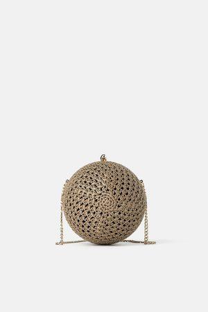 Zara Mala a tiracolo tipo caixa redonda crochet