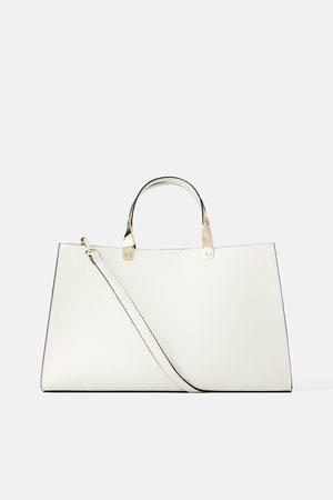 Zara Mala tote bag retangular com estampado animal