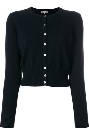 N.PEAL Cropped contrast button cardigan