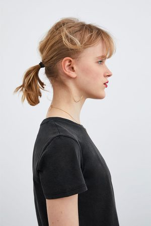 Zara Basic faded-effect t-shirt