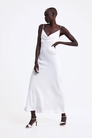 Zara Vestido estilo lingerie acetinado