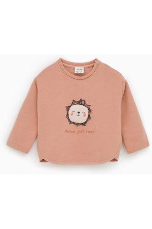 Zara Bebé Camisolas sem capuz - Sweatshirt com aplique acolchoado
