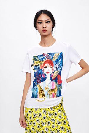 Zara T-shirt com estampado à frente
