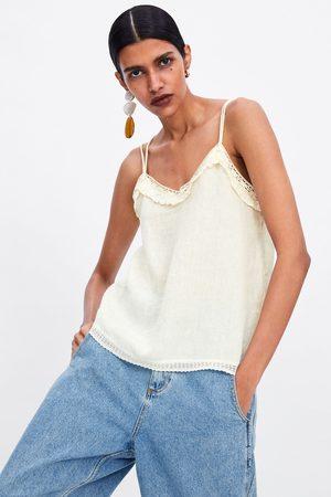Zara Top estilo lingerie de renda