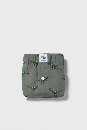 Zara Boxers de popelina com estampado de dinossauros