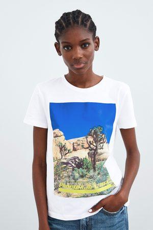 Zara T-shirt com à frente